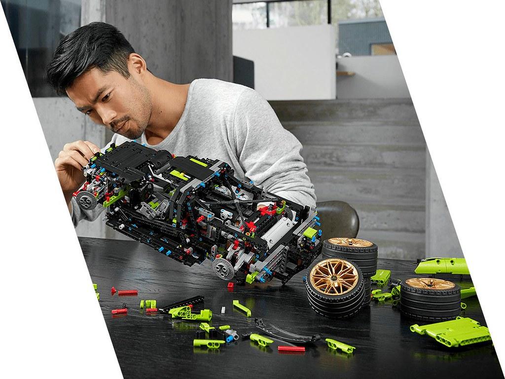 最強油電蠻牛終於現身!! LEGO 42115 科技系列【藍寶堅尼 Sián FKP 37】Lamborghini Sián FKP 37 1/8 比例模型車