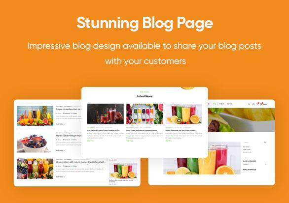 Stunning Blog Page - Leo Foodelic Organic Food Store Prestashop Theme