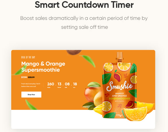 Smart Countdown Timer - Leo Foodelic Organic Food Store Prestashop Theme