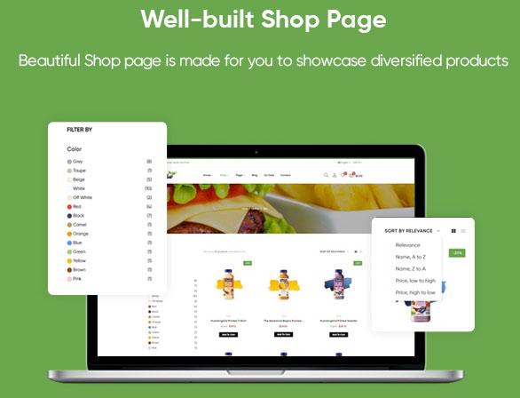 Shop Page - Leo Foodelic Organic Food Store Prestashop Theme