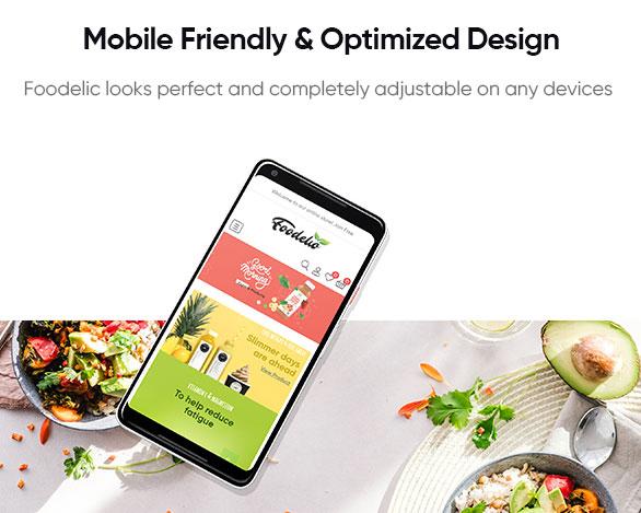 Mobile Friendly Optimized Design - Leo Foodelic Organic Food Store Prestashop Theme