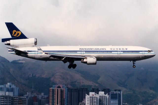 Mandarin Airlines   McDonnell Douglas MD-11   B-151   Hong Kong Kai Tak