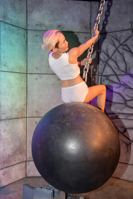 LAS VEGAS, Nevada USA - SEP 30, 2018: Miley Cyrus, an American singer, songwriter, and actress, Madame Tussauds wax museum in Las Vegas
