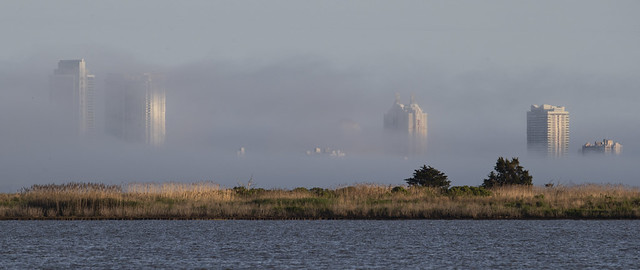 Atlantic City in fog.  {Explored!! Thank you so much! }