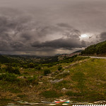 27. Mai 2020 - 17:36 - A 360° Panorama from this area in 1200 m altitude close to the Village Livadi Larisas in Greece on a rainy cold weather in end of May.