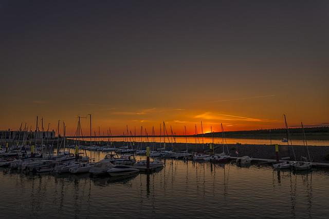 sunset Hafen Zwenkauer See