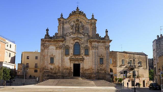 Baroque art in Matera.