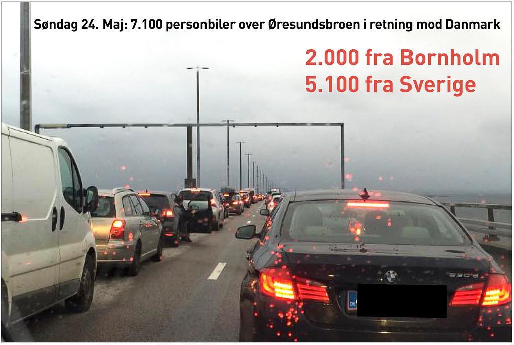 20200524 Oresundsbroen personbiler mod Danmark