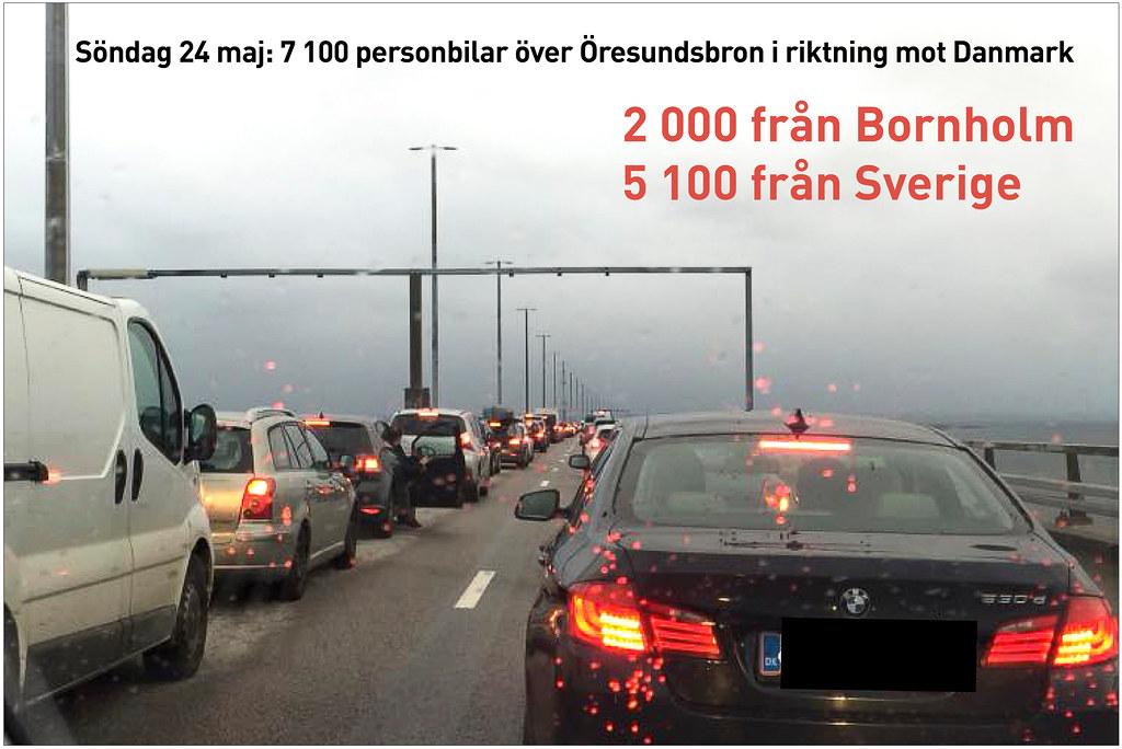 20200524 Oresundsbron personbilar mot Danmark