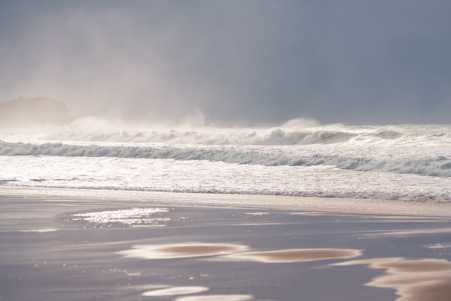 Southerly Swell at the Seaside in the storm light