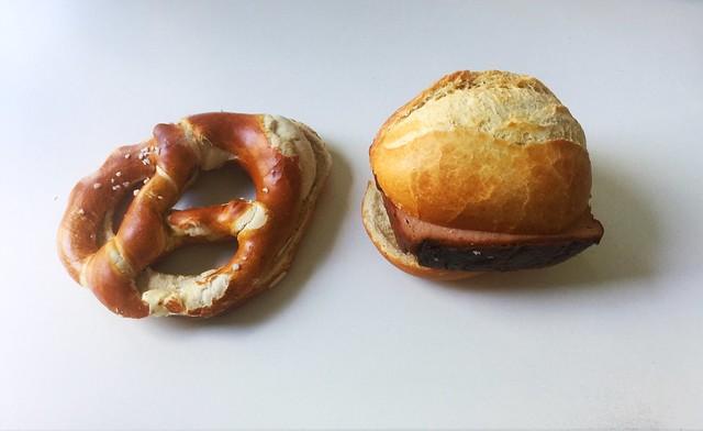 Pretzel & Bavarian meatloaf / Brezel & Leberkäse