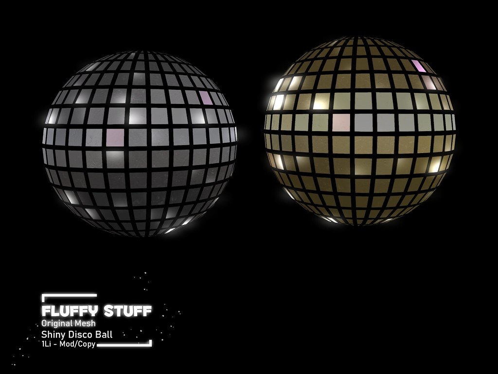 ::Fluffy Stuff:: Shiny Disco Balls