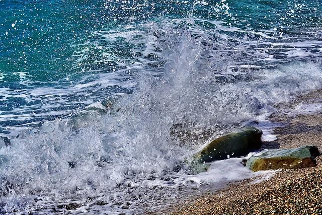 Splash of the sea