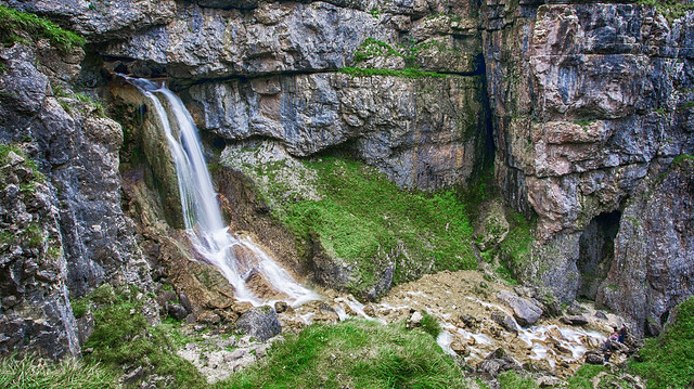Gordale Scar waterfall.