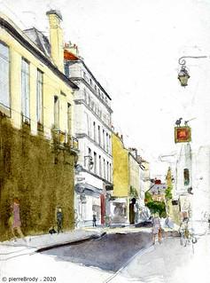 rue des Francs Bourgeois, à Paris