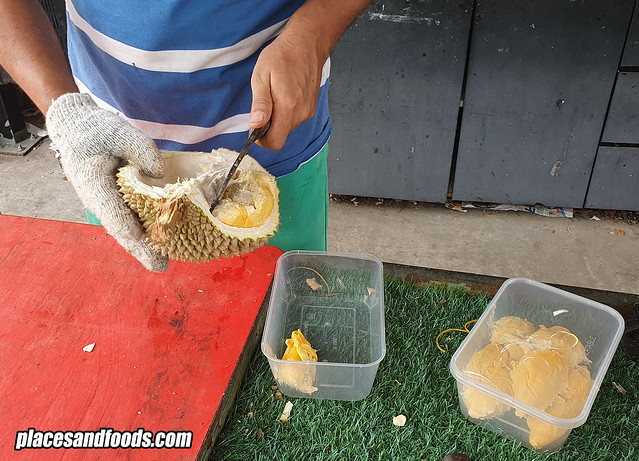 durian kajang sg chua red prawn