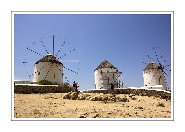 Admiring the windmills