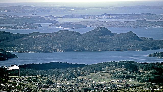 Austevoll, Korsneset an the Fanafjord from Mt. Ulriken