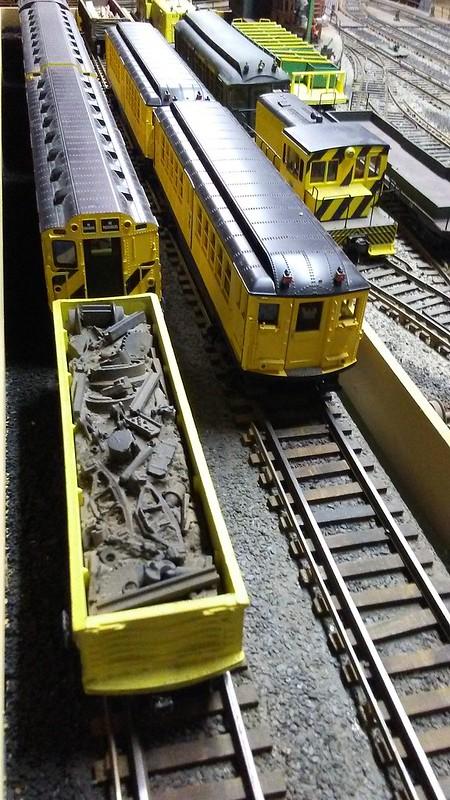 IRT Work Trains in Maintenance of Way Layup Yard