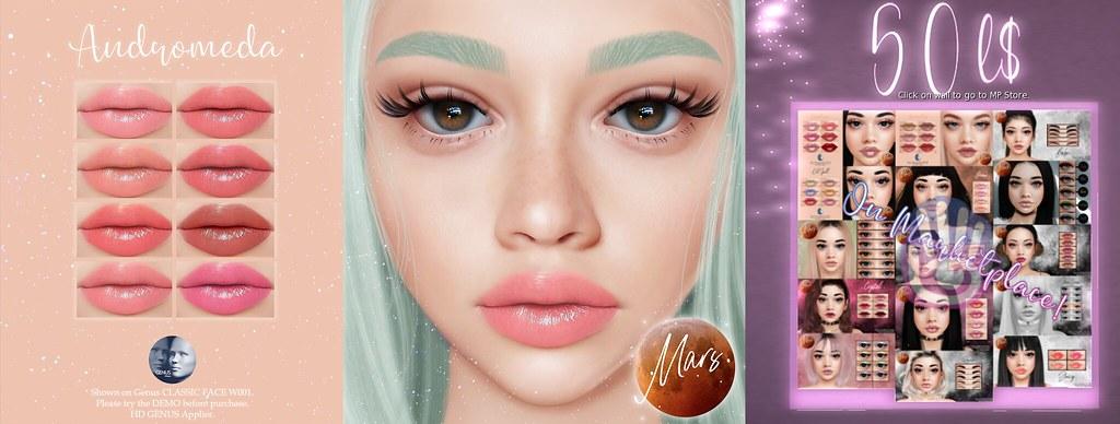 .Mars. – Andromeda HD GENUS Lipstick + 50L Wall
