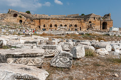 DSC1152 Teatro romano, siglo II, Hierápolis de Frigia, Pamukkale, Turquía