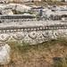 DSC1153 Friso del frente del Teatro romano, siglo II, Hierápolis de Frigia, Pamukkale, Turquía