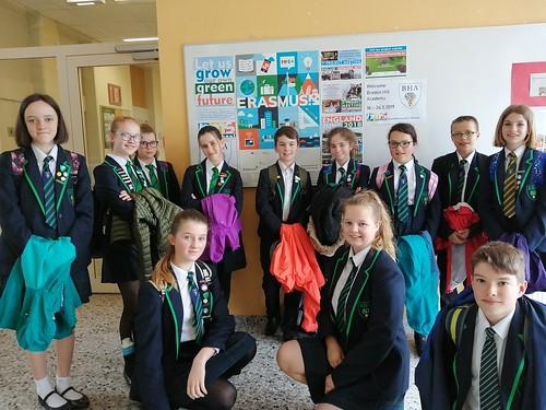 Bredon Hill Academy pupils during Erasmus+ project