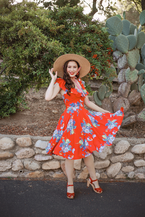 Trashy Diva Butterflies and Begonias Hollywod Circle Dress