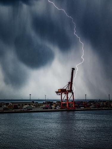 австралия australia перт perth пейзаж landscape океан море ocean sea круиз cruise dmilokt гроза погода порт port