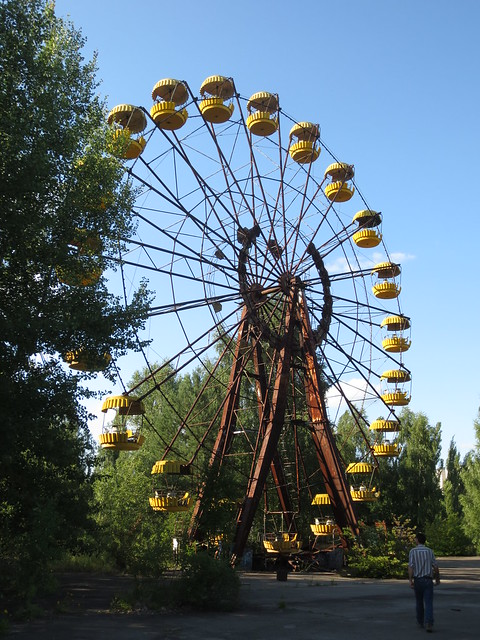 The Ferris wheel in the Pripyat amusement park