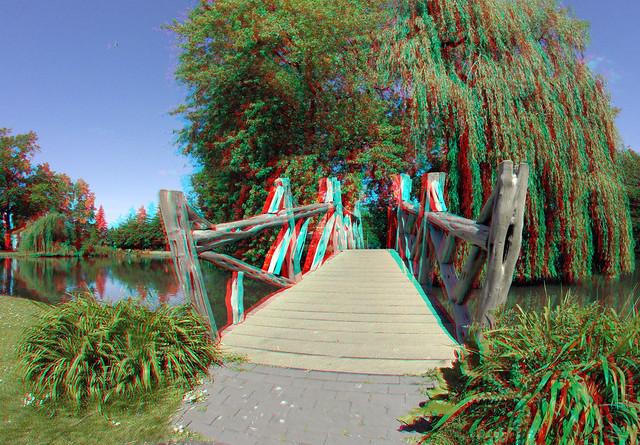 Bruggetje IJzendoornpark Gouda 3D GoPro
