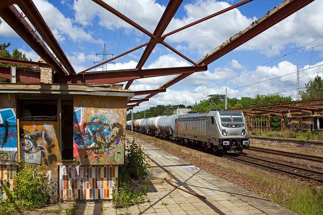 CTL 187 506 + Kesselwagenzug/ketelwagentrein/tank car train  - Potsdam Pirschheide