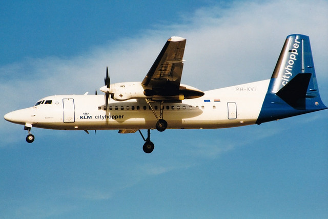 KLM cityhopper | Fokker 50 | PH-KVI | London Heathrow