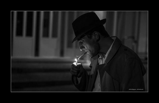 The cigarette Smoker .