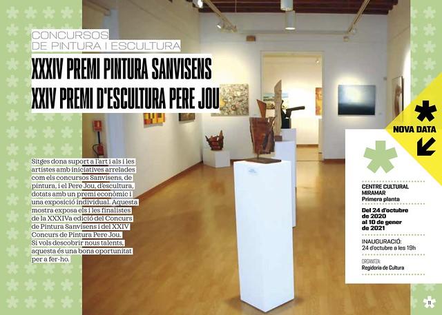 XXXIV PREMI PINTURA SANVISENS XXIV PREMI D'ESCULTURA PERE JOU