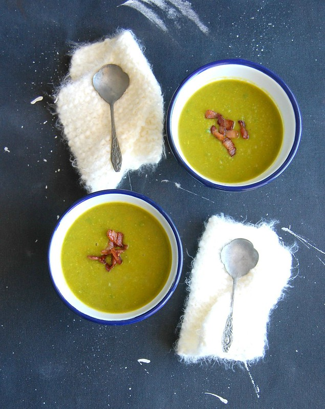 Sopa de abóbora e ervilha / Pea and Japanese pumpkin soup