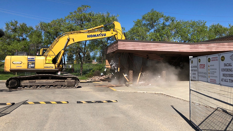 Demolition gets underway on Misericordia project