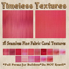 TT 16 Seamless Fine Fabric Coral Timeless Textures