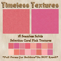 TT 16 Seamless Solids Selection Coral Pink Timeless Textures