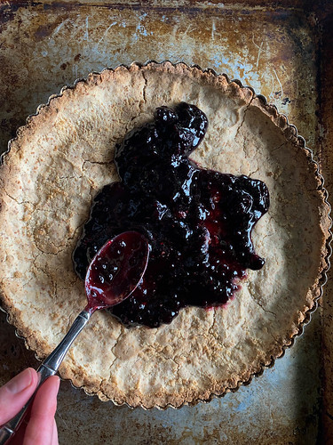 Vanilla Berry Ice Cream Tart (Vegan and Gluten-free) from HeatherChristo.com