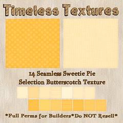 TT 14 Seamless Sweetie Pie Selection Butterscotch Timeless Texture