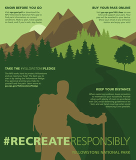 Recreate Responsibly Outdoors Poster | by YellowstoneNPS