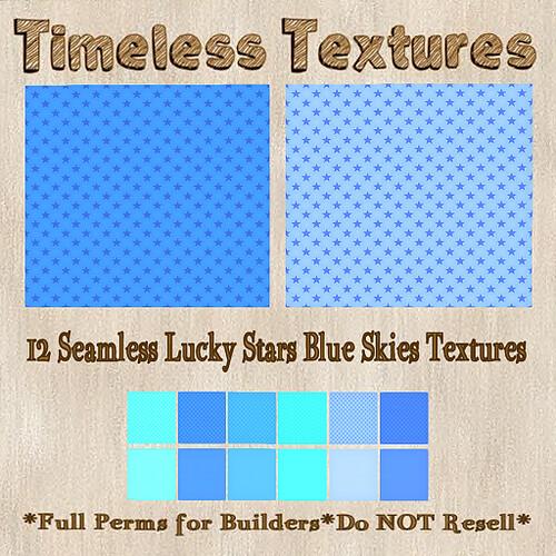 TT 12 Seamless Lucky Stars Blue Skies Timeless Textures