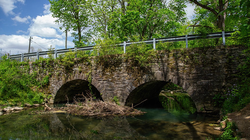 bridge sky water stone creek arch debris tulpehockencreek trees landscape pennsylvania myerstown ef24105mmf4lisusm canoneos5dmarkiii milliecruz reflection river