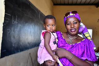 Senegal- near Kedougou- teacher and daughter