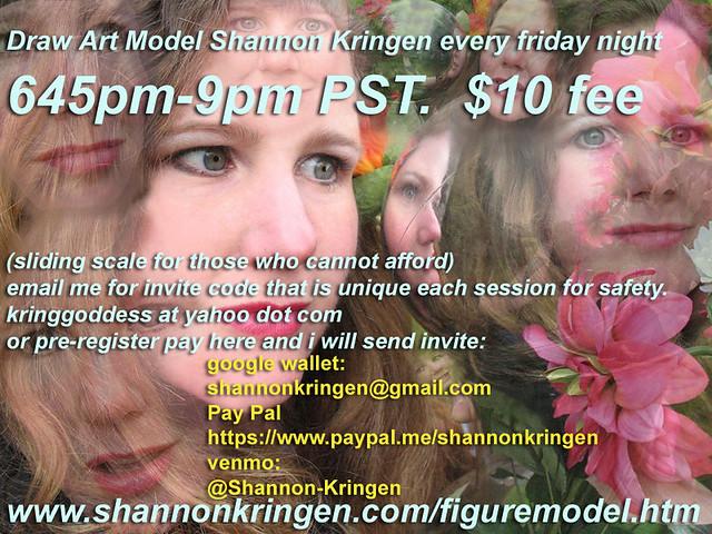 Draw Art Model Shannon Kringen Friday nights ongoing