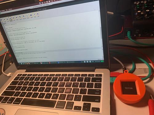 Vicky's new Maker project - generative art & Adafruit Circuit Playground & TFT e-ink