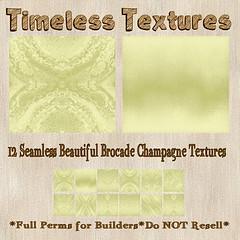 TT 12 Seamless Beautiful Brocade Champagne Timeless Textures