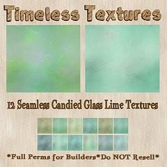 TT 12 Seamless Candied Glass Lime Timeless Textures
