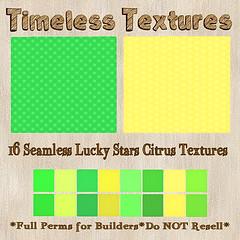 TT 16 Seamless Lucky Stars Citrus Timeless Textures